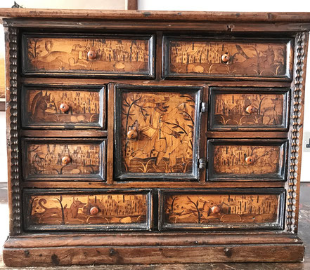 North Italian Table Cabinet, late 16th/early 17th century