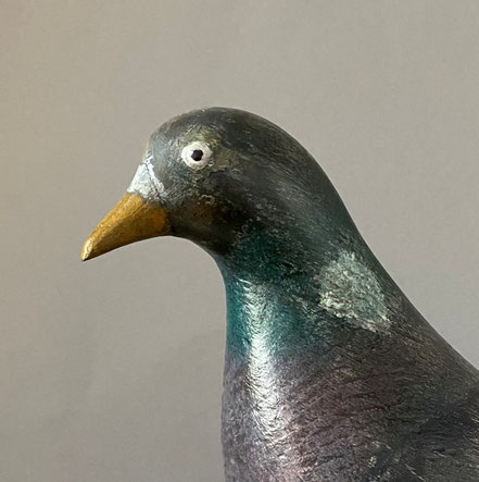 Early 20th century Pigeon Decoy on stand
