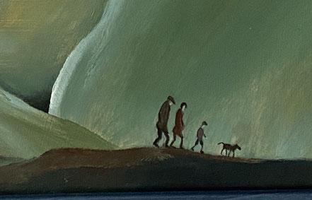 The long walk home: misty landscape