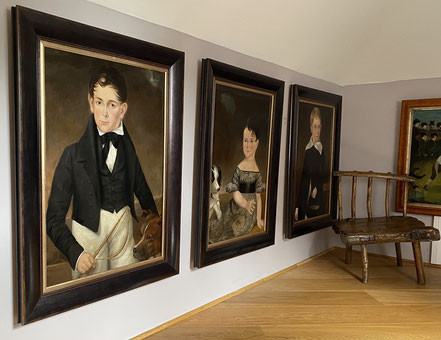 Set of Three, Charming British Provincial School, Two Brothers and their Sister, Regency Period