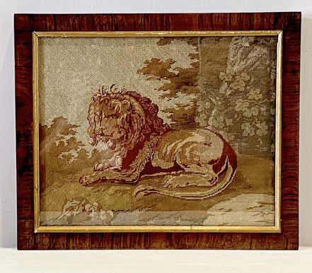 19th century Petit Point Tapestry of a Lion