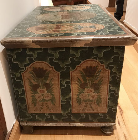 Decorated Chest from North Bohemia
