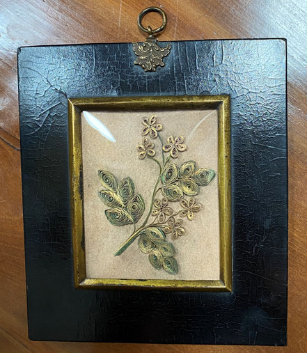 Miniature Scrolled or Rolled Paper Work early 19th century