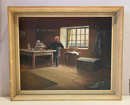 The old man and the sea oil on canvas