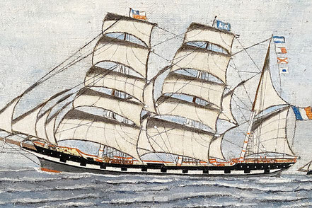 Naive Oil of the French Frigate 'Galathee'