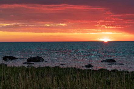 Sonnenuntergang am Meer, Ruegen