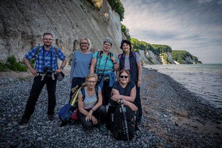 Gruppe, Kreideküste Insel Ruegen