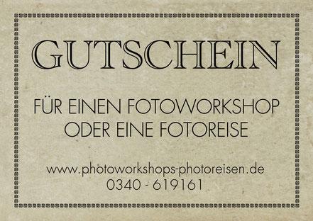 Geschenkgutschein Fotoworkshop, Hochzeitsgeschenk, Geburtstagsgeschenk, Jubiläumsgeschenk