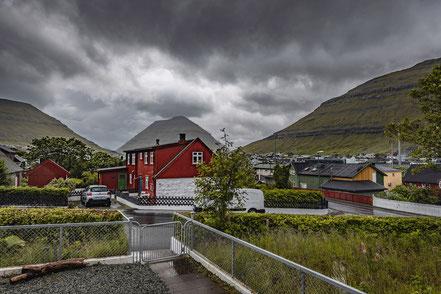 Vorgarten des Hauses in Klaksvik
