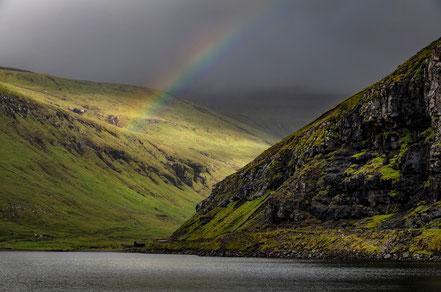... und ein Regenbogen kommt auch immer gut an.