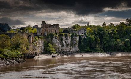 Chepstow Castle am Wye River, der Grenze zu England