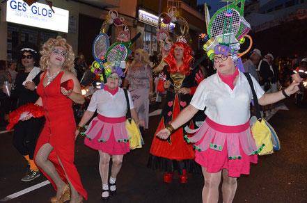 Der Umzug in Icod de los Vinos, einer Karnevalshochburg.