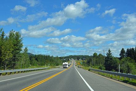 Unterwegs auf der Route 138, eine der schönsten Straßen Kanadas.