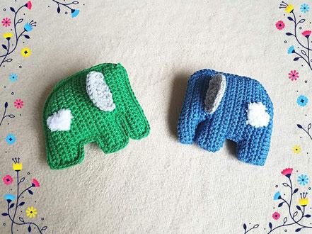 Knisterelefanten mit Herz