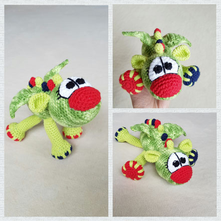 Drache Fips - designed by Dat Yarn's