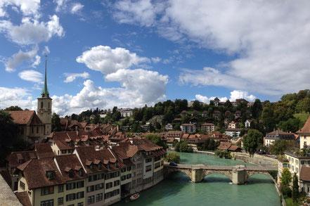 Bern von der Nydegg-Brücke aus fotografiert.