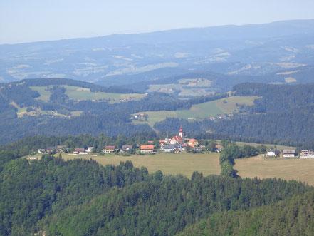 traumhafte Aussicht vom Südbalkon - Enzianhof Plesch