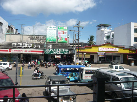 Aussicht vom Mendoza Park auf Rizal Avenue (Puerto Princesa)