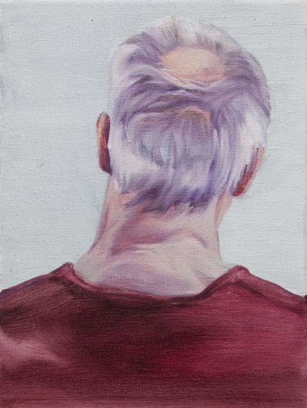 Hinterkopf, 2019, Öl auf Leinwand, 24x 18 cm