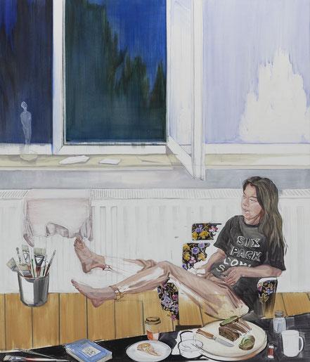 atelier, 2019, Öl auf Leinwand, 200x 170 cm