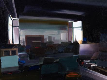 Atelier, 2020, Öl auf Leinwand  18x 24 cm