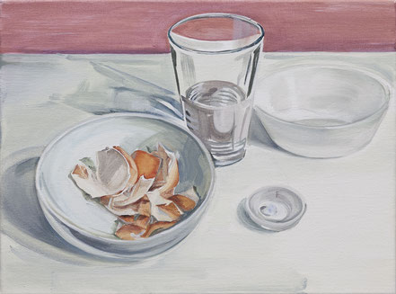 eggshell, 2019, Öl auf Leinwand, 30x 40 cm