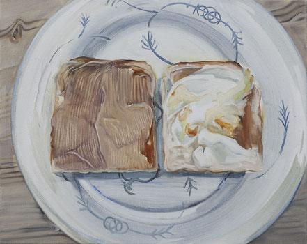 toast, 2019, Öl auf Leinwand, 40x 50 cm