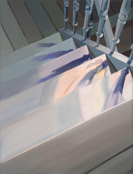 Treppe, 2019, Öl auf Leinwand, 18x 24 cm