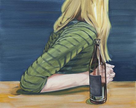 o.T, 2019, Öl auf Leinwand, 50x 62 cm