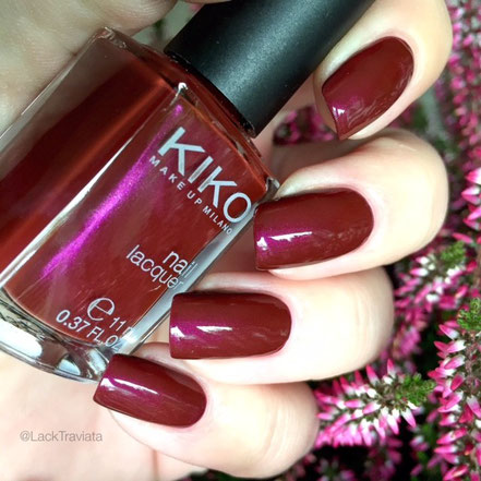 swatch KIKO 498 Pearly Cherry Purple