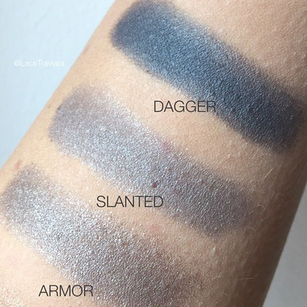 Swatch Urban Decay NAKED SMOKY Eyeshadow Palette