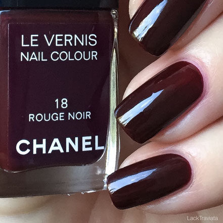 swatch CHANEL ROUGE NOIR 18 Collection Rouge Noir Absolument