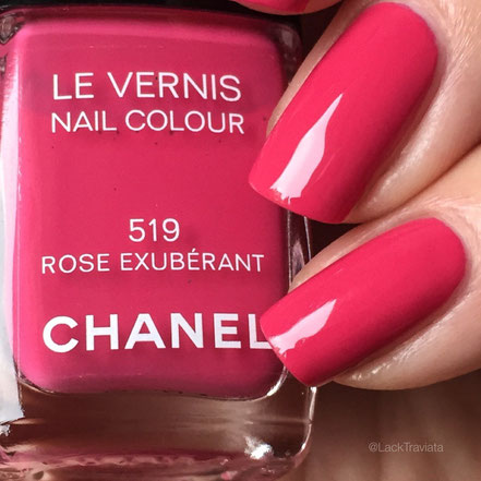 SWATCH CHANEL ROSE EXUBÉRANT 519  by LackTraviata