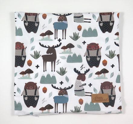 Kissenhülle Waldtiere Kinderzimmer Kissen