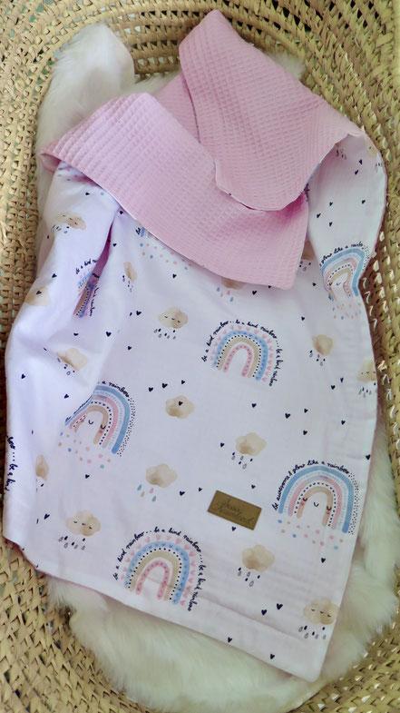 Babydecke personalisierbar Regenbogen