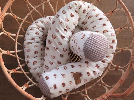 handmade Bettschlange Waldtiere
