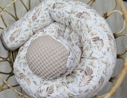 handmade Bettschlange Leoprint