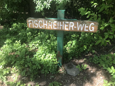 Hinweisschild am Krimpelsee in Bremen-Habenhausen