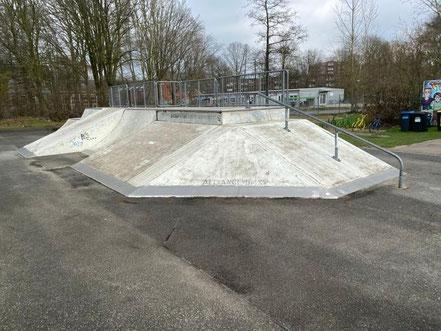 Ein Viertel des Funparks Bremen ist asphaltiert als Skaterfläche