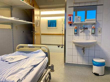 Lagerraum für aufbereitete Klinikbetten im Klinikum Links der Weser, Bremen-Kattenturm, Bremen Obervieland