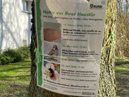 Menschen für Natur begeistern: NABU Werbung in Bremen Kattenturm (Foto: Jens Schmidt 05.03.2020)