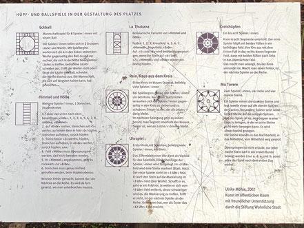 Spielanleitung für die Spiele rund um das Kunstwerk von Ulrike Möhle-Wieneke in Bremen-Kattenesch, Bremen Obervieland (Foto: 03-2020, Jens Schmidt)