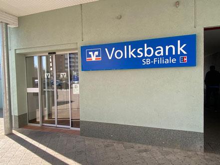SB-Filiale der Volksbank in Bremen-Arsten (Einkaufszentrum Arsterdamm, Bremen Obervieland)