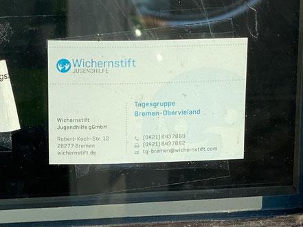 Visitenkarte Wichernstift Jugendhilfe - Tagesgruppe Bremen Obervieland, 28277 Bremen