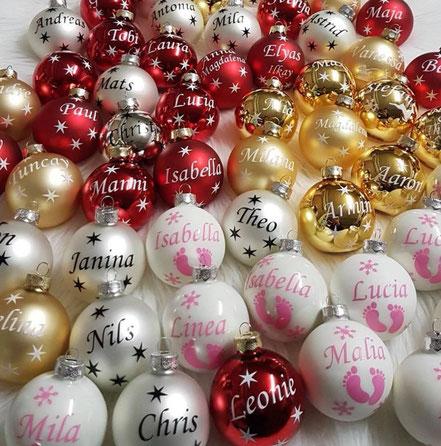 Weihnachtskugeln mit Namen bei Lubaliba in Bremen-Kattenesch