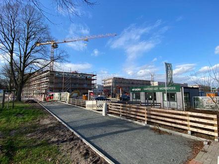 Bild der Baustelle Gartenstadt Werdersee an der Habenhauser Landstraße (Foto 02-2020)