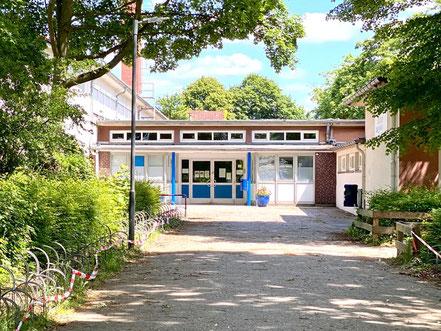 Eingangsbereich der Oberschule Habenhausen (Foto: 05-2020, Jens Schmidt)