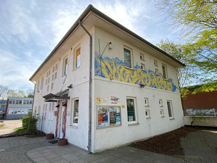 Graffiti am Jugendhaus / Jugendclub der AWO Bremen: Kinder- und Jugendeinrichtung mit offenem Angebot in 28277 Bremen-Kattenturm, Bremen Obervieland (Foto: 04-2020, Jens Schmidt)