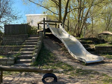 """Spielplatz """"Arsterix"""", Carl-Katz-Straße 2, Bremen Arsten (Obervieland) (Foto: 04-2020, Jens Schmidt)"""