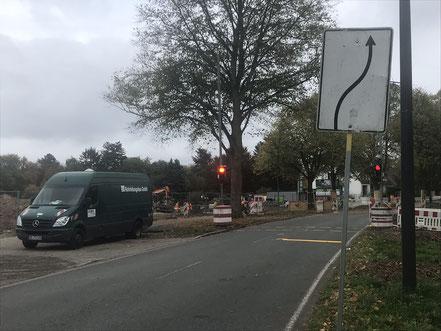 Baubeginn der Gartenstadt Werdersee in Bremen: Hier wird gerade die Zuleitung für Bauwasser gelegt (Foto: 10-2018, Jens Schmidt)